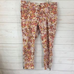 Cold Water Creek Floral Print Jeans